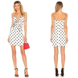 NWT Bardot Revolve Aubrey Polka Dot Tie Dress
